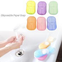Private Link Tragbare Einweg Seife Papier Reinigung Seife Papier Für Küche Wc Outdoor Reise