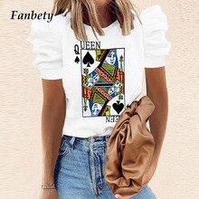 بلوزات فضفاضة مطبوعة على شكل بوكر للربيع قمصان أنيقة صيفية مناسبة للمكتب بلوزات بسيطة عصرية للنساء بأكمام قصيرة متوفرة بمقاسات 2XL