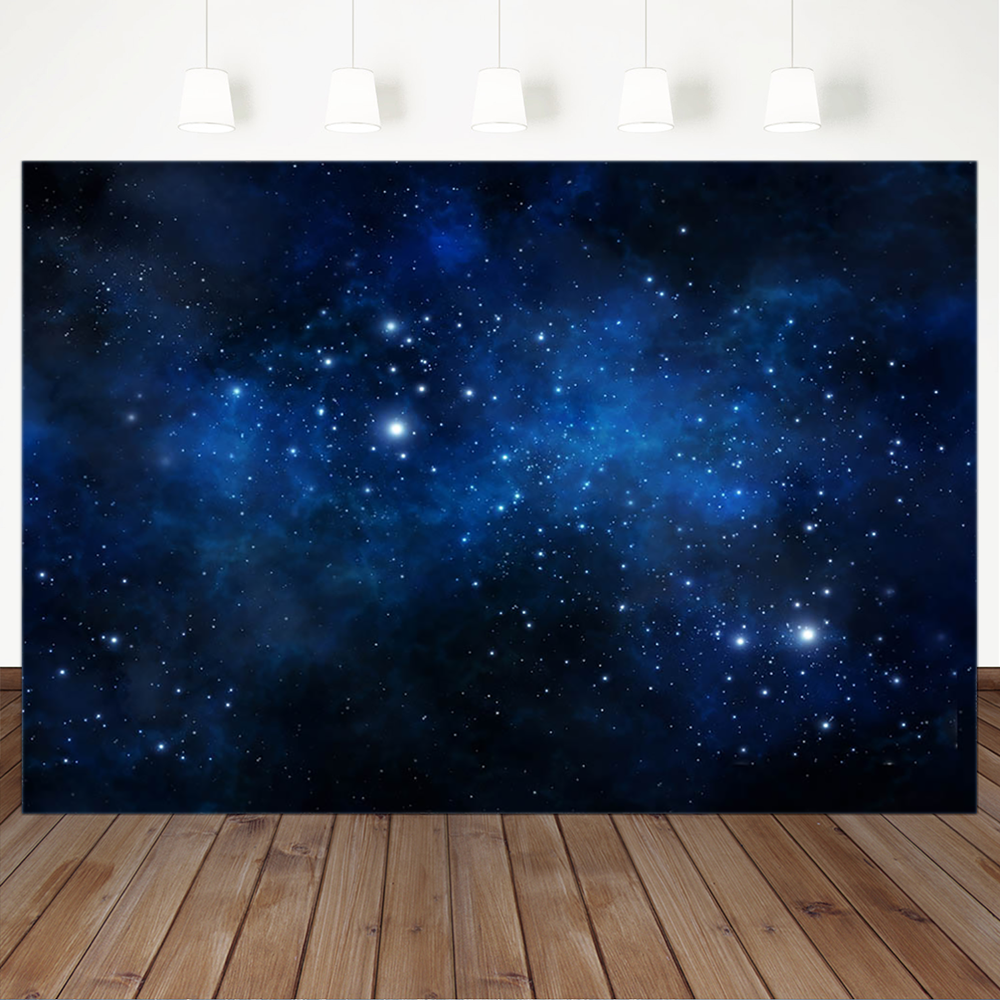 wedding background the blue sky and white clouds party photo backdrops tree flower chair background for photographic studio Cosmic Dark Blue Flash Starry Sky Background for Photography Child Birthday Portrait Photographic Backdrops For Photo Studio