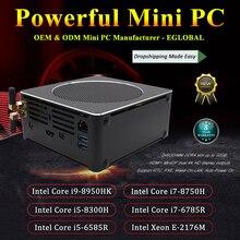 Mini PC de jeu Xeon E-2186M 6 cœurs 12 fils Nuc ordinateur gagner 10 Pro NVMe PCIe 2 * DDR4 ca WiFi HDMI Mini DP