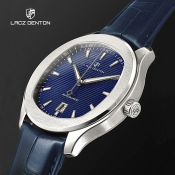 LACZ DENTON Mens Watches 2021 Mechanical Automatic Watch For Men Miyota 8125 Sport Waterproof Leather Business Relogio Masculino