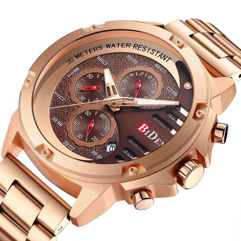 Relojes de hombre cronógrafo relojes de acero inoxidable relojes de cuarzo con fecha para hombre relojes automáticos de negocios cronómetro