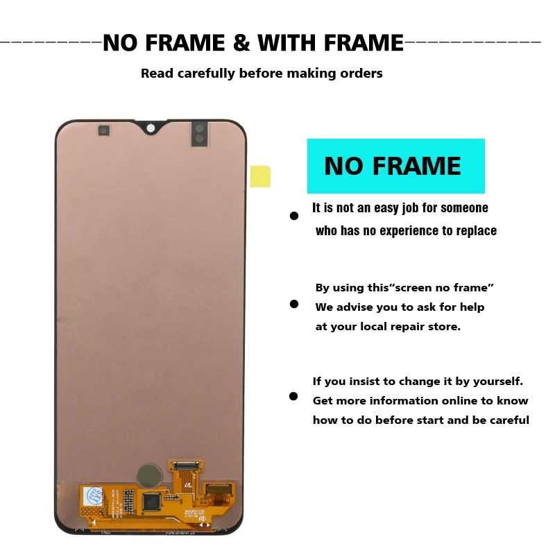 For Samsung Galaxy A30S OLED LCD Display Touch Screen Digitizer With Fingerprint On SM A307F A307 A 30S 307F Sm-A307F 100% Test enlarge