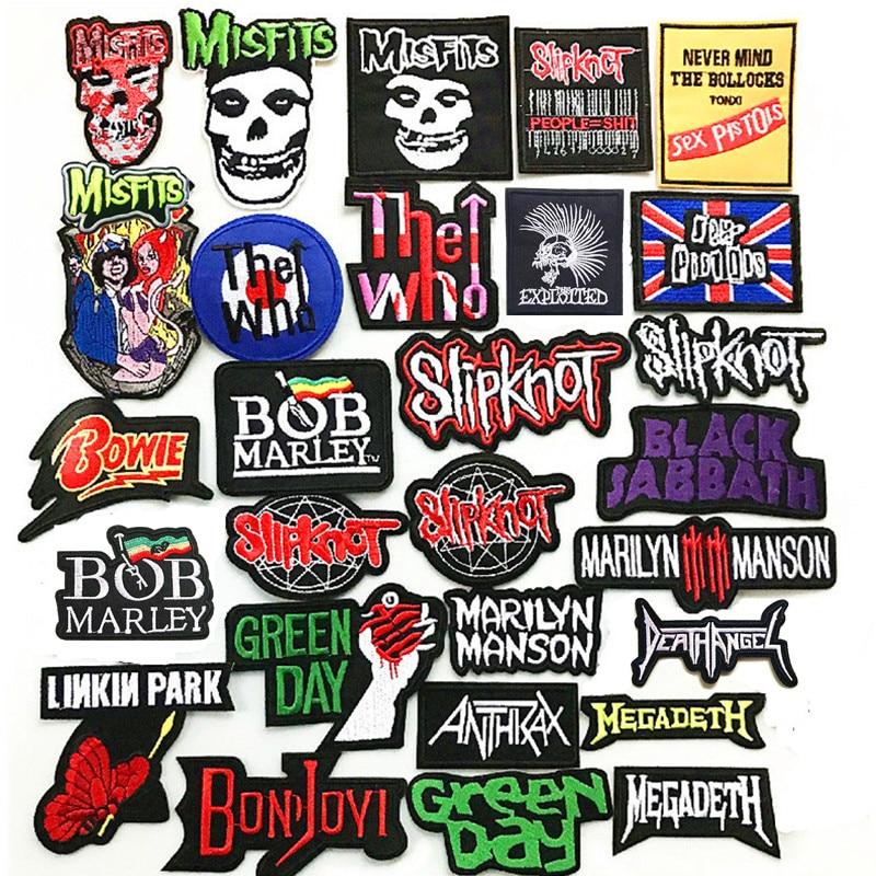Heavy Metal rock banda de música banner parches con símbolo bordado apliques ropa de costura de Ropa Accesorios ropa plancha sobre insignia