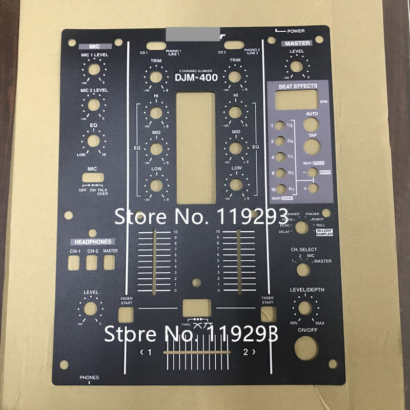 BELLA-DJM-400 DJM400, mezclador, película de panel de PVC negro, protección, mate, resistente...