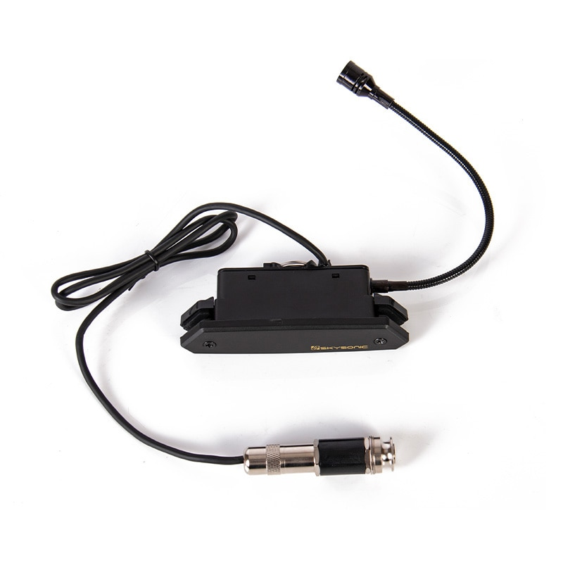 Skysonic T-902 Acoustic Guitar Pickup Magnetic + Microphone Dual Pickup with Volume and Tone Controls don't need to punch Fast enlarge