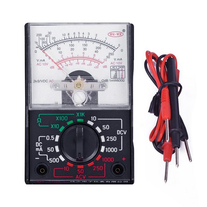 Multímetro elétrico ac/dc ohm voltímetro amperímetro multímetro multi tester MF-110A volts atual resistência medidor tensão tester