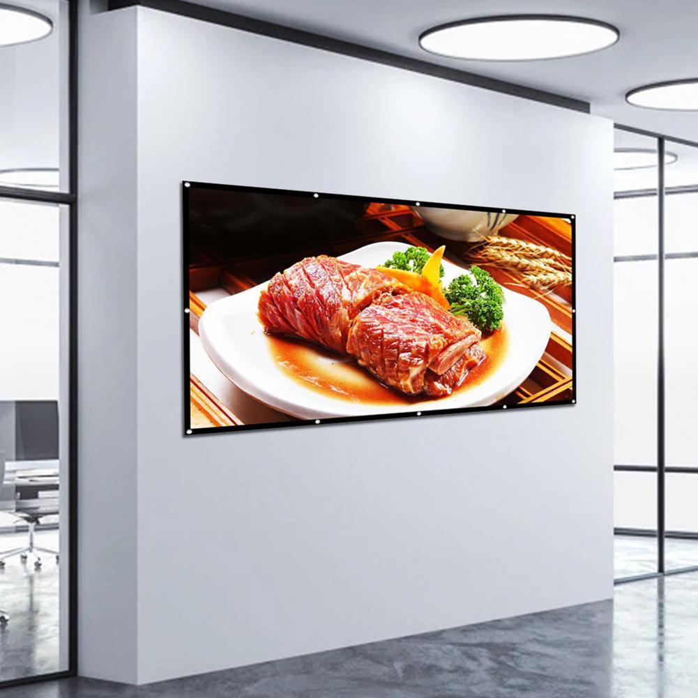 100 дюймовый отличный 100 дюймовый складной толстый проекционный экран из полиэстера экран для проекции толщиной для кино