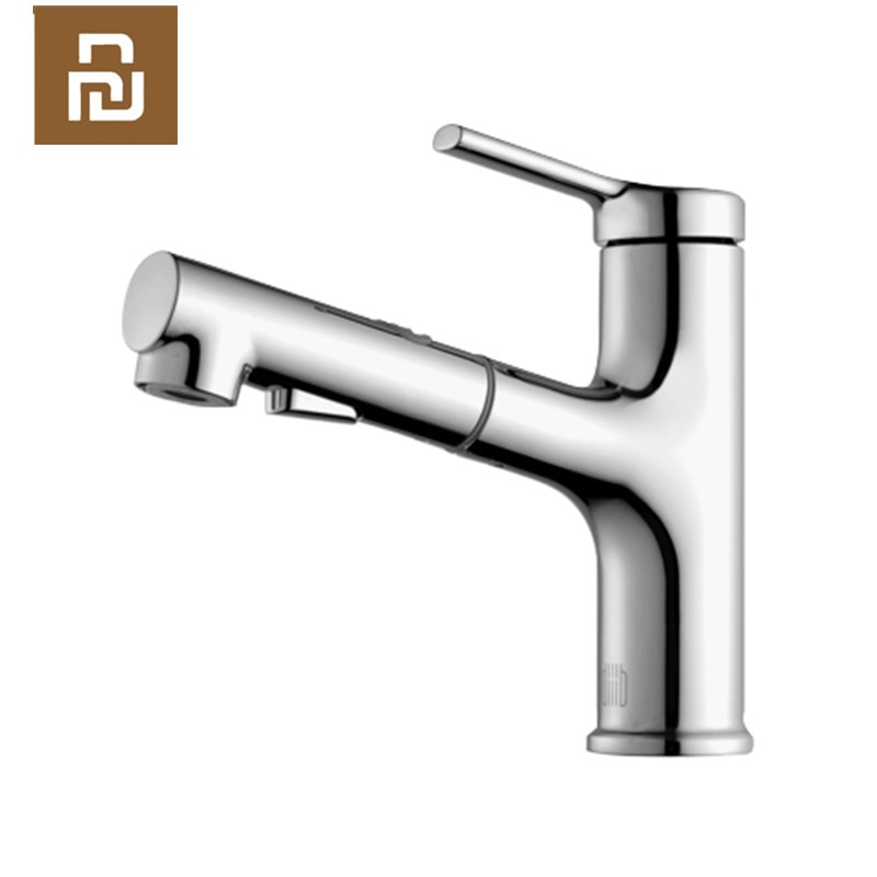 Original Youpin Dabai Bathroom Basin Faucet With Pull Down Sprayer 2 Spray Mode Single Lever Handle Mixer Tap Leather Bag