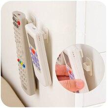 2 ensemble pratique auto-adhésif crochet mural pour TV climatiseur support de télécommande en plastique collant crochet cintre organisateur