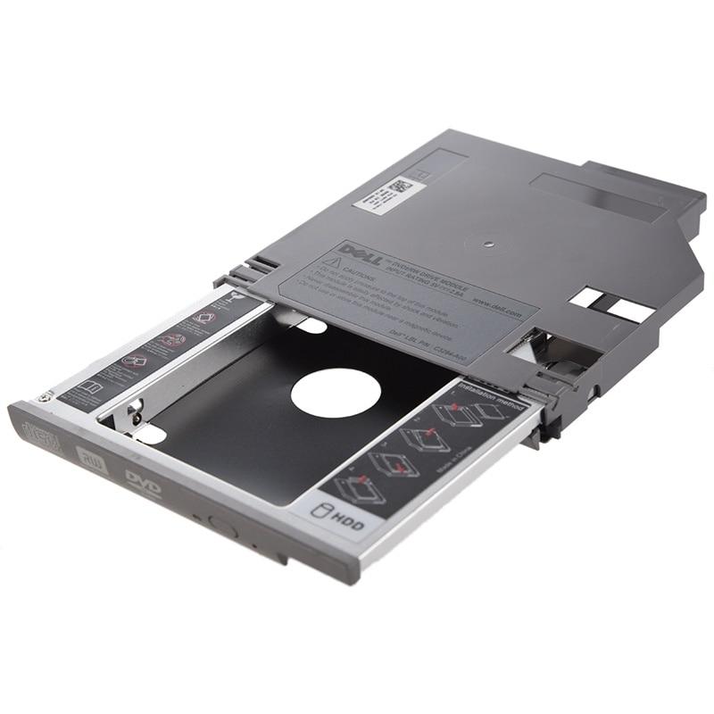 adaptador sata 2nd de disco rigido hdd bay adaptador para dell latitude d600 d610 d620 d630 prateado