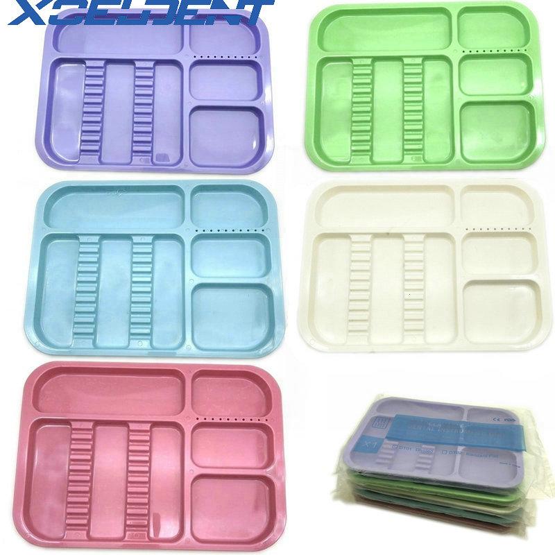 High Quality Plastic Dental Tray Split Segregated Placed Trays 135 Degree Autoclavable Storage Clinic Lab Equipment