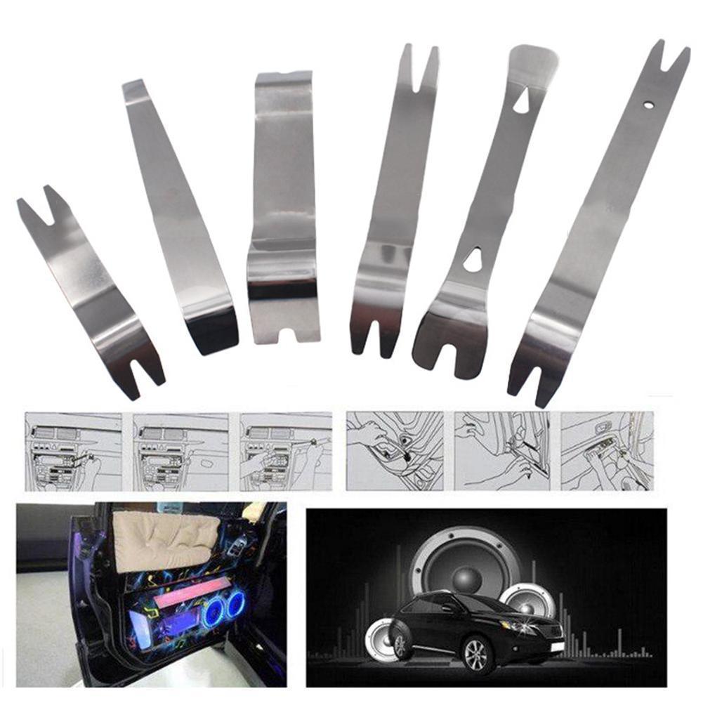 6 шт./комплект, набор инструментов для снятия автомобильной магнитолы