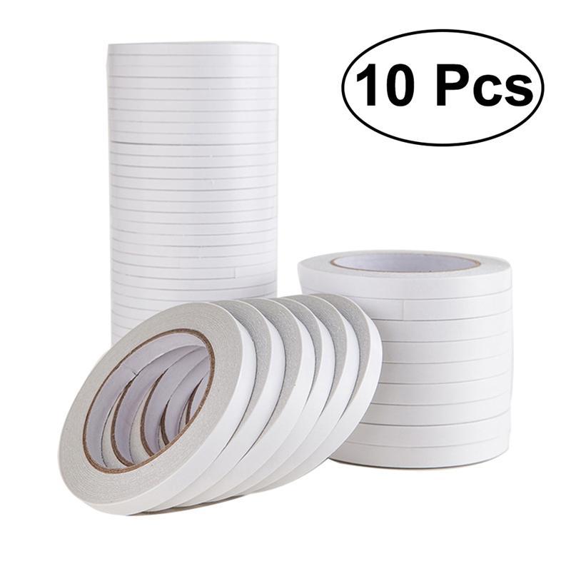 10pcs-nastro-biadesivo-bianco-super-forte-nastro-biadesivo-carta-forte-cotone-ultra-sottile-alto-adesivo