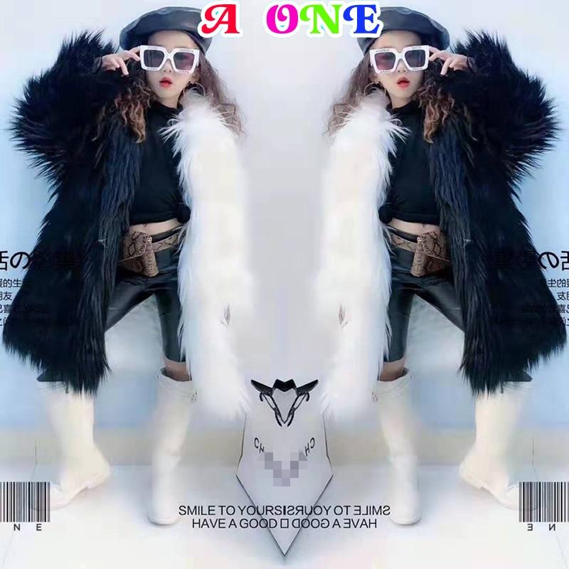 Abrigo de piel niñas invierno abrigo niñas chaquetas cortavientos moda de dos colores patchwork Faux Fur prendas de vestir para niñas 2T a 14T yrs