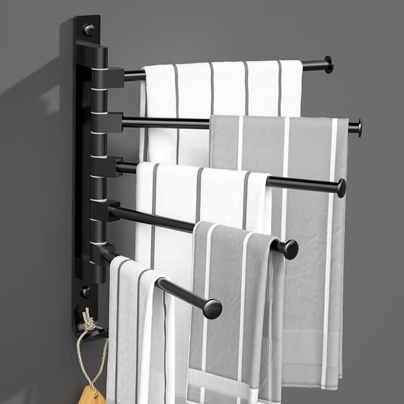Soporte de toalla negro mate, accesorio de Toallero Adhesivo para Salle Bain,...