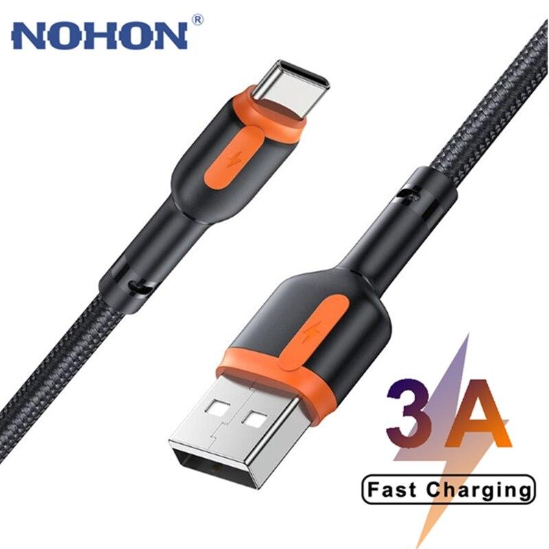 Cable de carga rápida 3A para móvil, Cable de datos USB tipo...