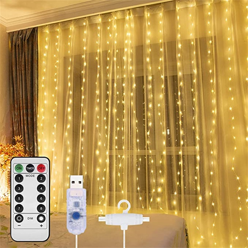 LED String Lights Christmas Decoration Fairy Garland Curtain Light USB Festoon String Light for Part
