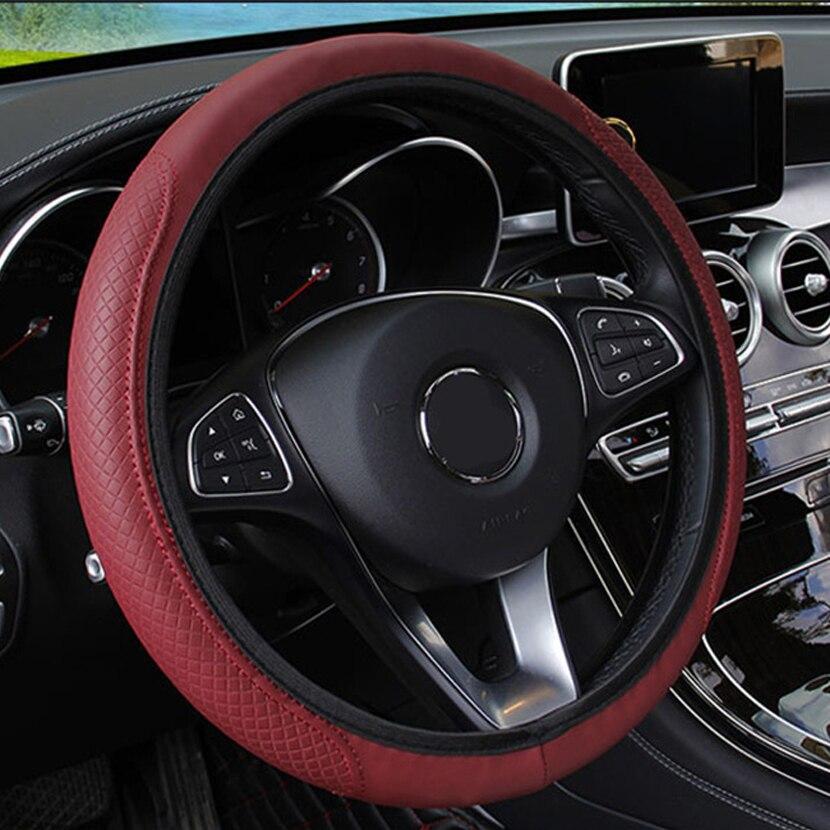 Auto Lenkrad Abdeckung leder Für Opel Corsa D Astra gtc H Insignia Signum Meriva b Zafira eine Vivaro Auto zubehör Innen