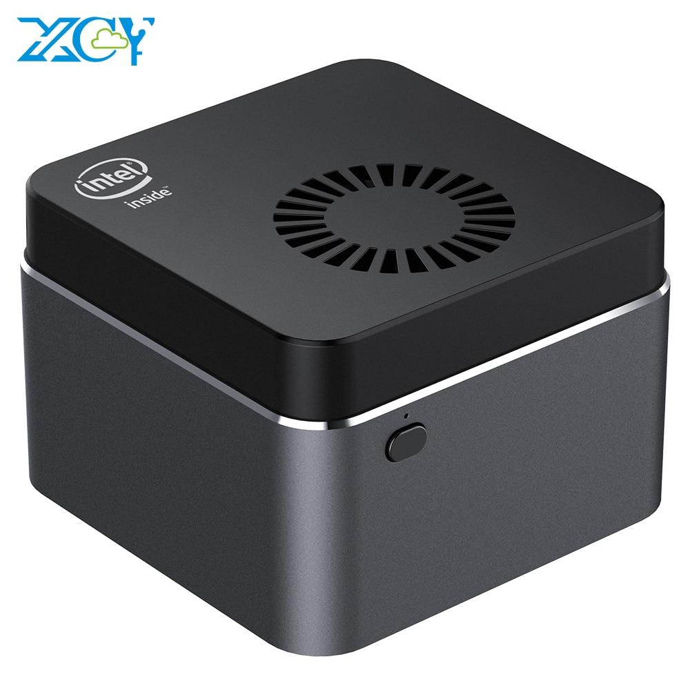 XCY портативный мини ПК Intel Celeron N4100 четырехъядерный 6 ГБ LPDDR4 128 ГБ M.2 SSD 2,4G/5,0G Wi-Fi Bluetooth 4,2 4K 60 Гц Windows 10