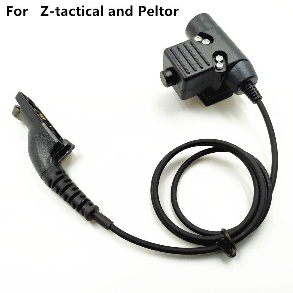 Regular for Z-Tactical and peltor U94 Headset U-94/A PTT for Motorola XiR P8268 8260 APX 7000 8000 DP3400 DP3600 DGP4150
