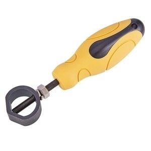Металлический Дырокол держатель штампа вмещает штампы до 15 мм в диаметре с белой резиновой ручкой для работы с металлом