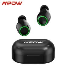 Mpow T6 actualizado TWS inalámbrico Bluetooth 5,0 auriculares ipx7 impermeable 40h tiempo de reproducción para iPhone 11 Xs Xr Huawei Samsung S10 S9