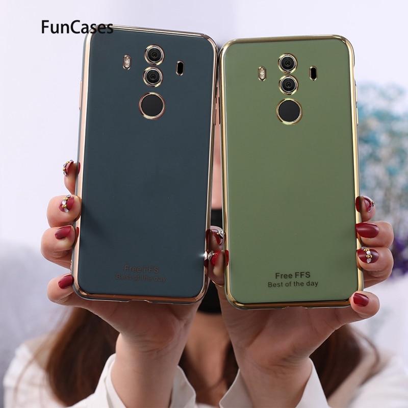 Fundas para teléfonos para Huawei Mate 30, Protector de silicona verde suave para Huawei carcasa Mate 10 Pro 9 30 20 Lite X Csse