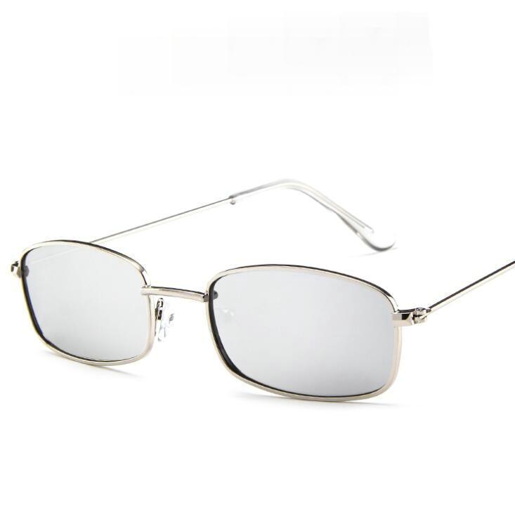 2021 New Fashion Polygon small square Sunglasses Women Men Brand Designer Vintage Clear Sun Glasses