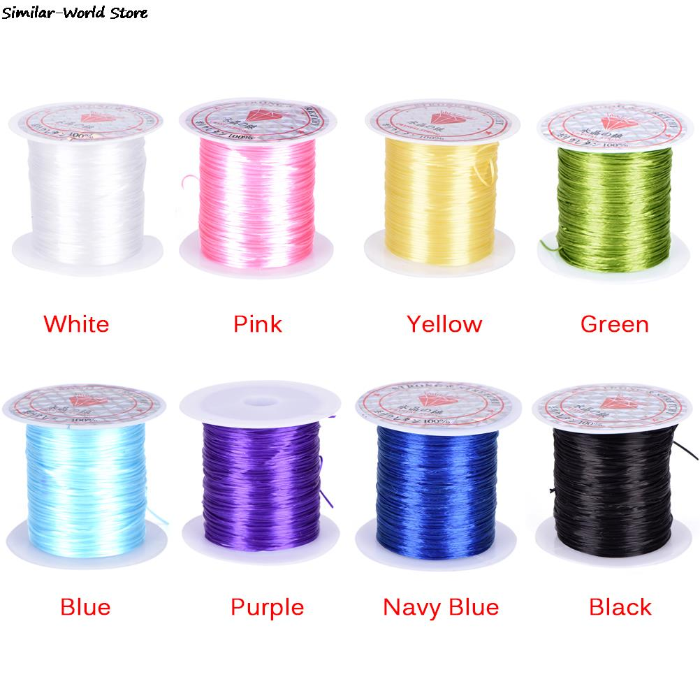 10M/Roll Colorful Stretchy Elastic Cord Crystal String Wire For Jewelry Making Beading Bracelet Wire Fishing Thread Rope