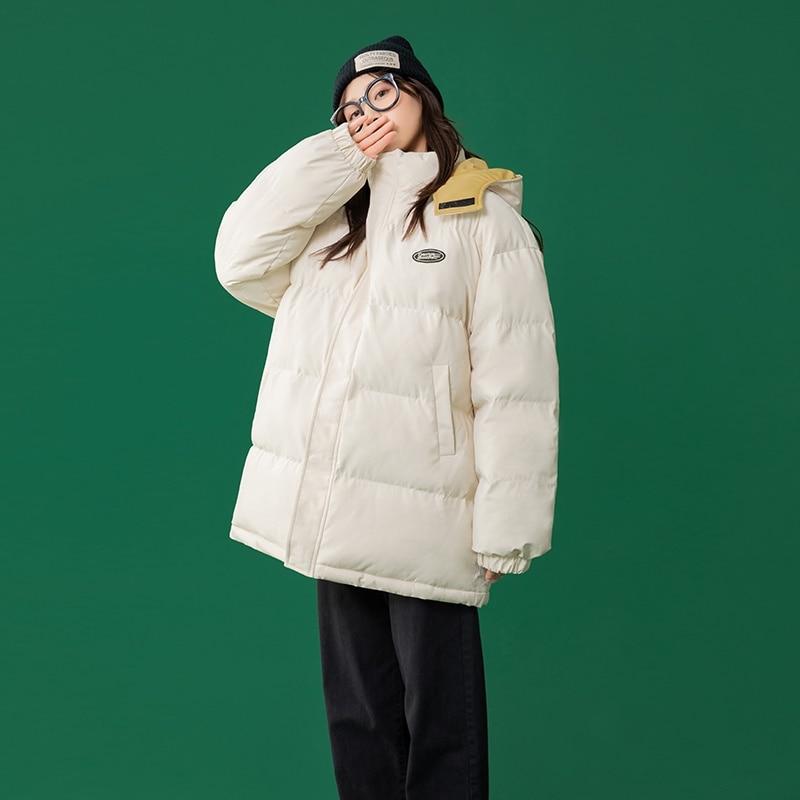 куртка зимняя женская Новое зимнее пальто, стеганая куртка с длинным рукавом, утепленная теплая куртка средней длины из бархатного хлопка, ... glissade куртка утепленная женская glissade размер 44