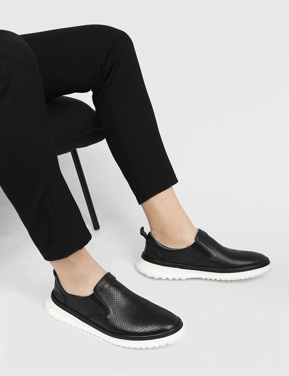 ILVi-جلد طبيعي صناعة يدوية Alvera جلد أسود للرجال حذاء رياضة حذاء رجالي 2021 لربيع وصيف