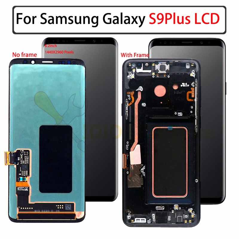 original For Samsung S9 LCD s9 plus Display Touch Screen Digitizer Assembly For Samsung GALAXY S9 G960f S9 Plus G965 g9650 lcd enlarge
