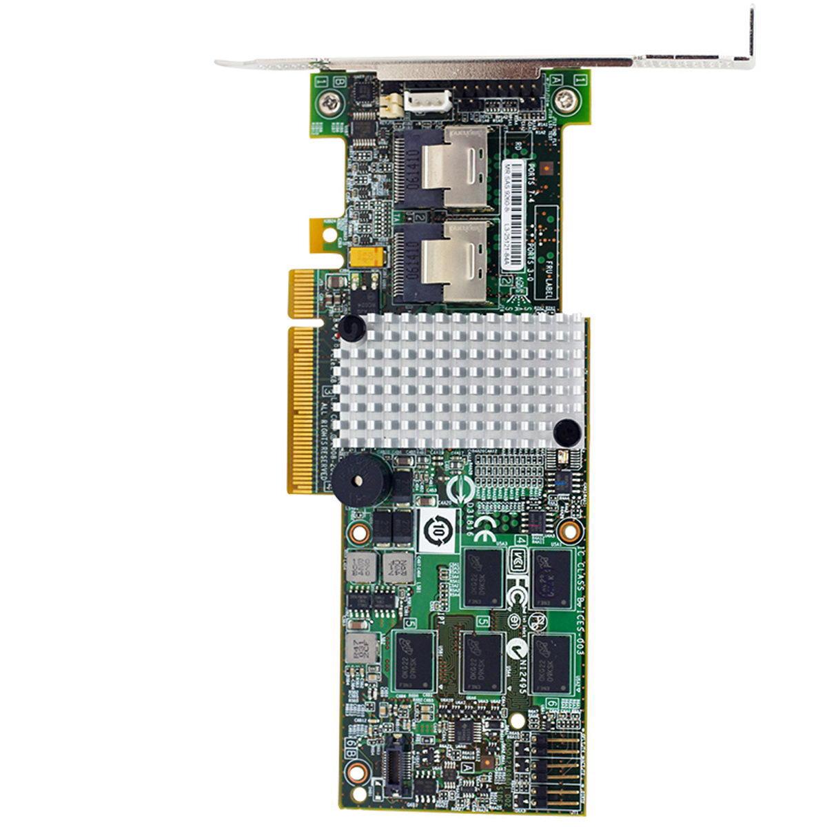 PCIE adaptador SAS LSIMegaRAID LSI 9260-8i LSI00198 8 port 512MB caché SFF8087 6Gb RAID0.1.5.6 PCI-E 2,0 X8 controlador de tarjeta de