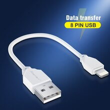 Portable 16cm USB Data Cable USB A To 8 Pin 2A Fast Charging Kable Safe TPE Phone Charge Short Cord