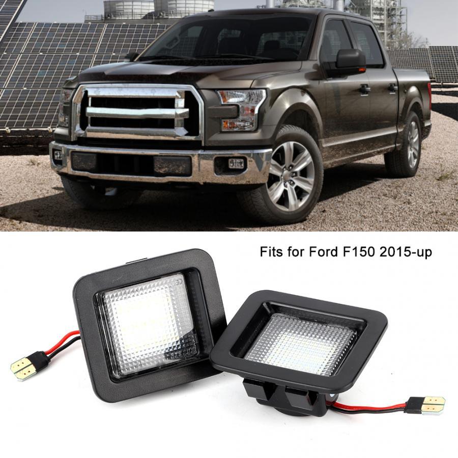1 par de luces de matrícula de 18LEDs para coche para Ford F150 2015 2016 2017 2018 2019