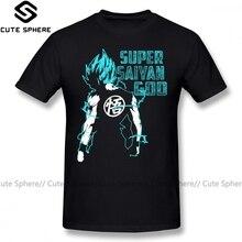 Camiseta Goku Super Saiyan azul 16, divertida camiseta estampada, camiseta de manga corta 100 algodón, camiseta grande clásica para hombre