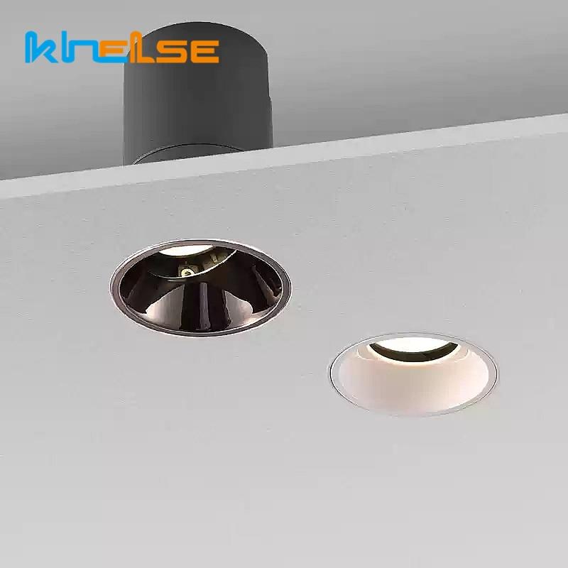 7W 10W 15W عكس الضوء فرملس LED النازل الأسود راحة السقف مصابيح داخلي فندق غرفة المعيشة المطبخ جزءا لا يتجزأ بقعة الإضاءة