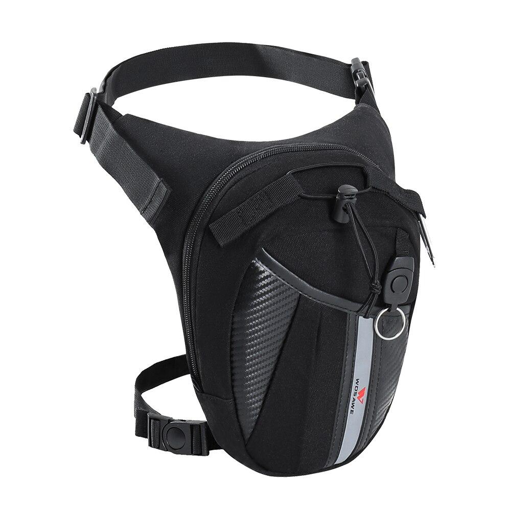 WOSAWE, bolsa de pierna para motocicleta, riñonera, impermeable, para Moto, ciclismo, táctico, cintura, Airsoft, táctico, caída de pierna, Panel de utilidad