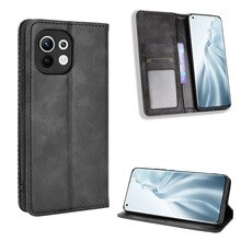 Flip Case For MI11 Premium Leather Wallet Leather Flip Case For Xiaomi Mi11 Couqe Fundas