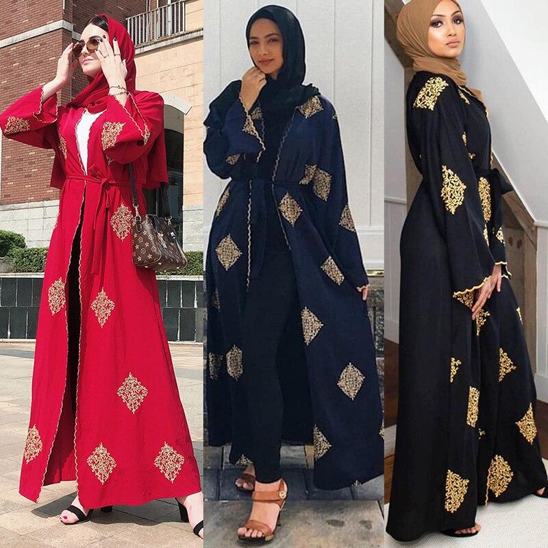 Дубай открытый абаи кимоно мусульманский хиджаб платье кафтан абайя s Исламская одежда для женщин Кафтан Marocain Qatar платье kleding Musulman