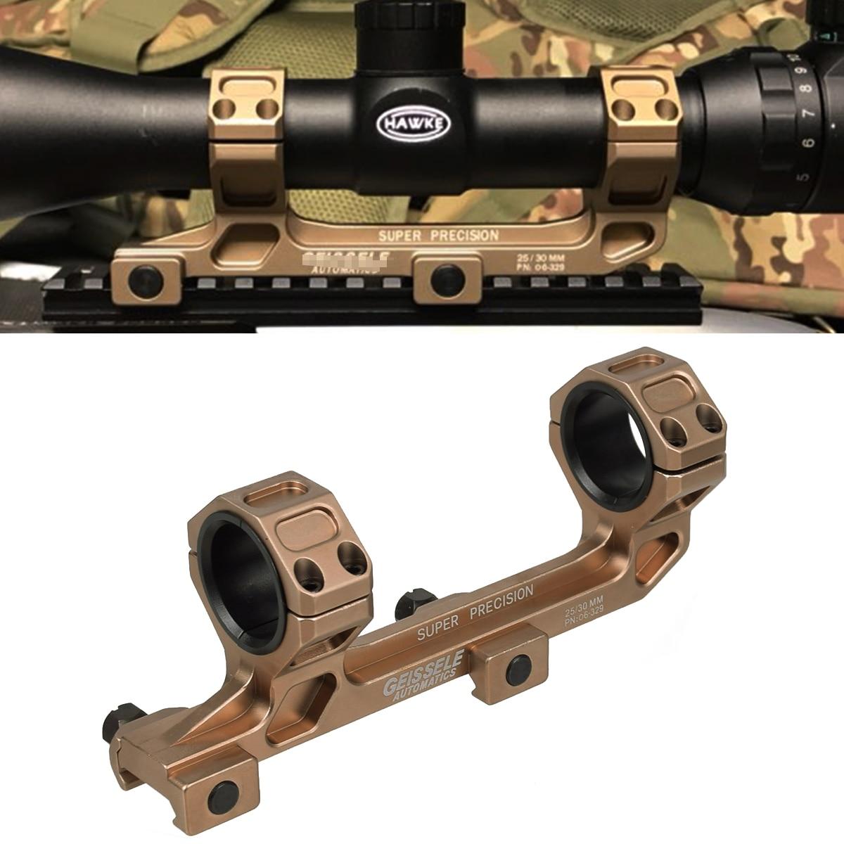 Táctico GE automáticas arma AR15 Rifle óptica montaje alcance 25,4mm/30mm QD anillos montaje sin nivel de burbuja para 20mm riel Picatinny