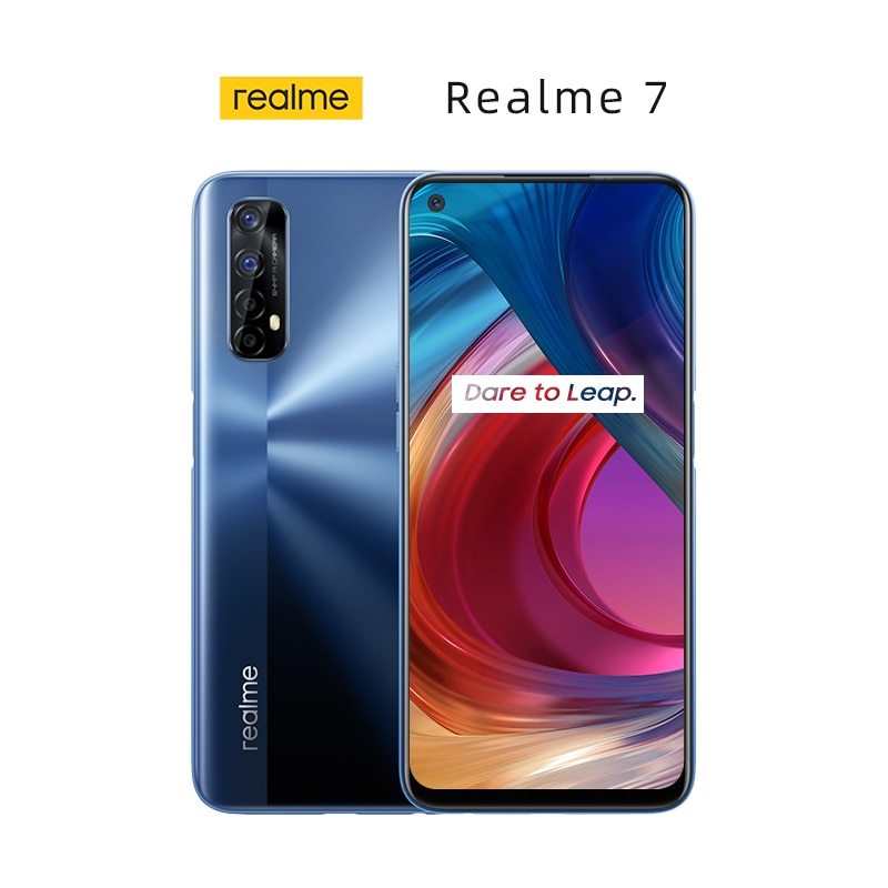 Official New Realme 7 Global Version 8GB 128GB Cell Phones 30W Charge 48MP Quad Camera 90Hz Display Helio G95 Gaming Smartphone