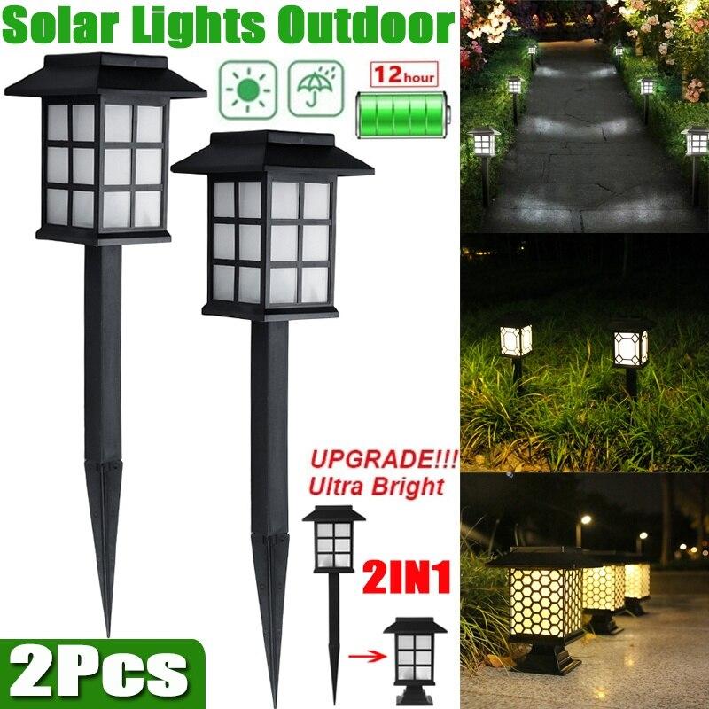 1 шт. уличные фонари на солнечной батарее, водонепроницаемые уличные фонари на солнечной батарее для сада, ландшафта, дорожек, двора, патио, п...