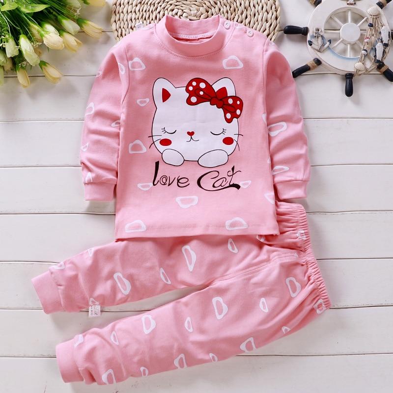 Хлопковая одежда для маленьких девочек; Зимний комплект одежды для новорожденных; Комплект детской одежды унисекс из 2 предметов