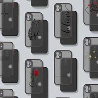 portuguese words rose phone case matte transparent for iphone 7 8 11 12 plus mini x xs xr pro max cover
