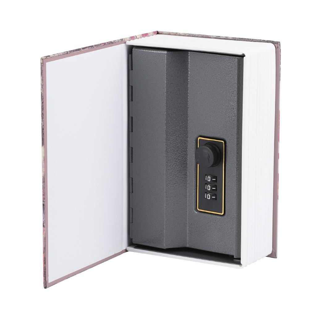 18x11.8x5.5 سنتيمتر الإبداعية كتاب صندوق الأمان جمع المال مجوهرات حقيبة للتخزين مع قفل مجمع اقفال الصناديق التخزين دروبشيبينغ