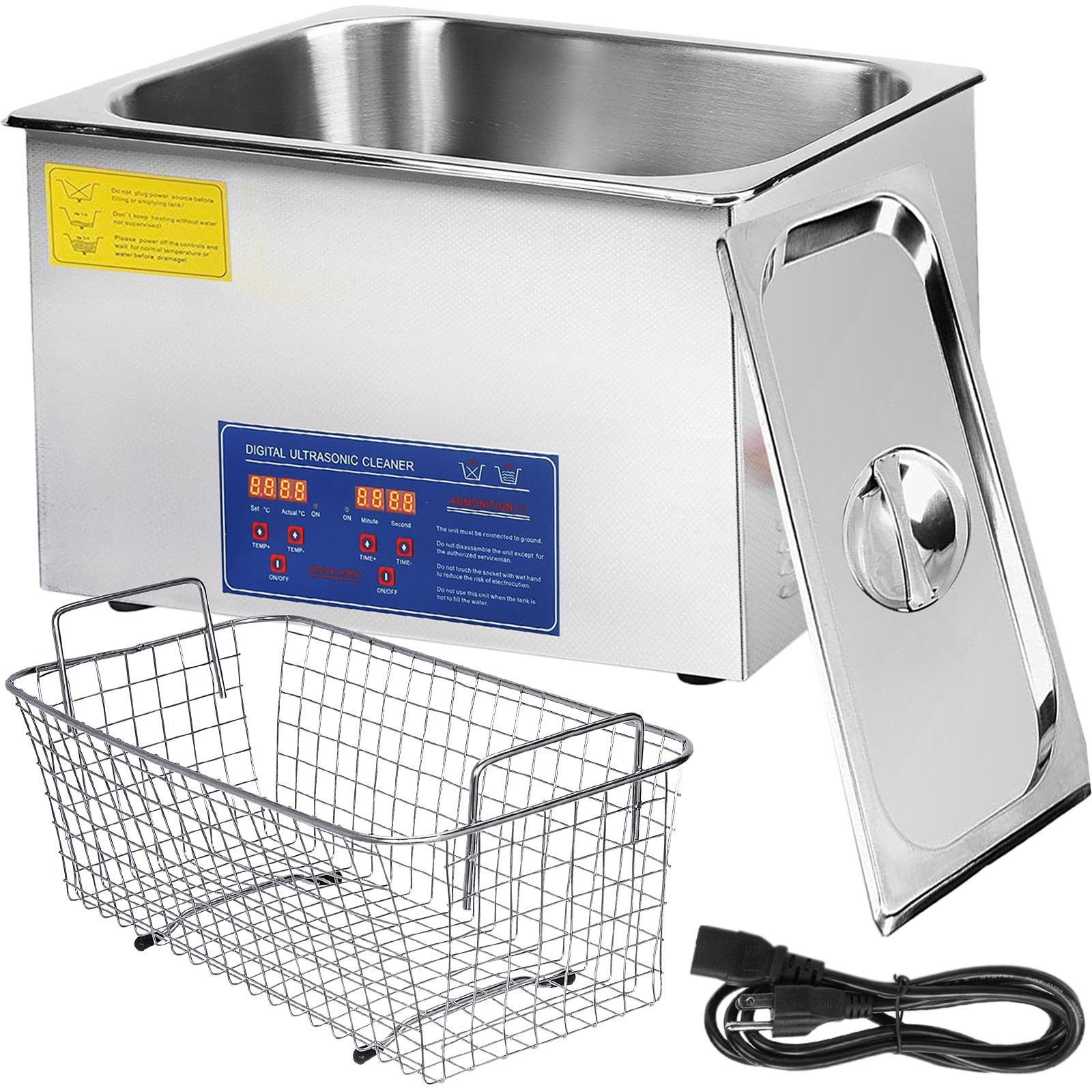 VEVOR 1-30L Ultrasonic Cleaner with Heater Timer for Dental Sonic Cleaner Bath Glasses Jewelry Watch