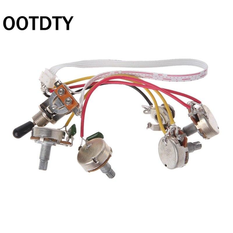 OOTDTY LP juego de arnés de cableado de guitarra eléctrica interruptor de palanca de 3 vías 2 Volumen 2 Jack de tono