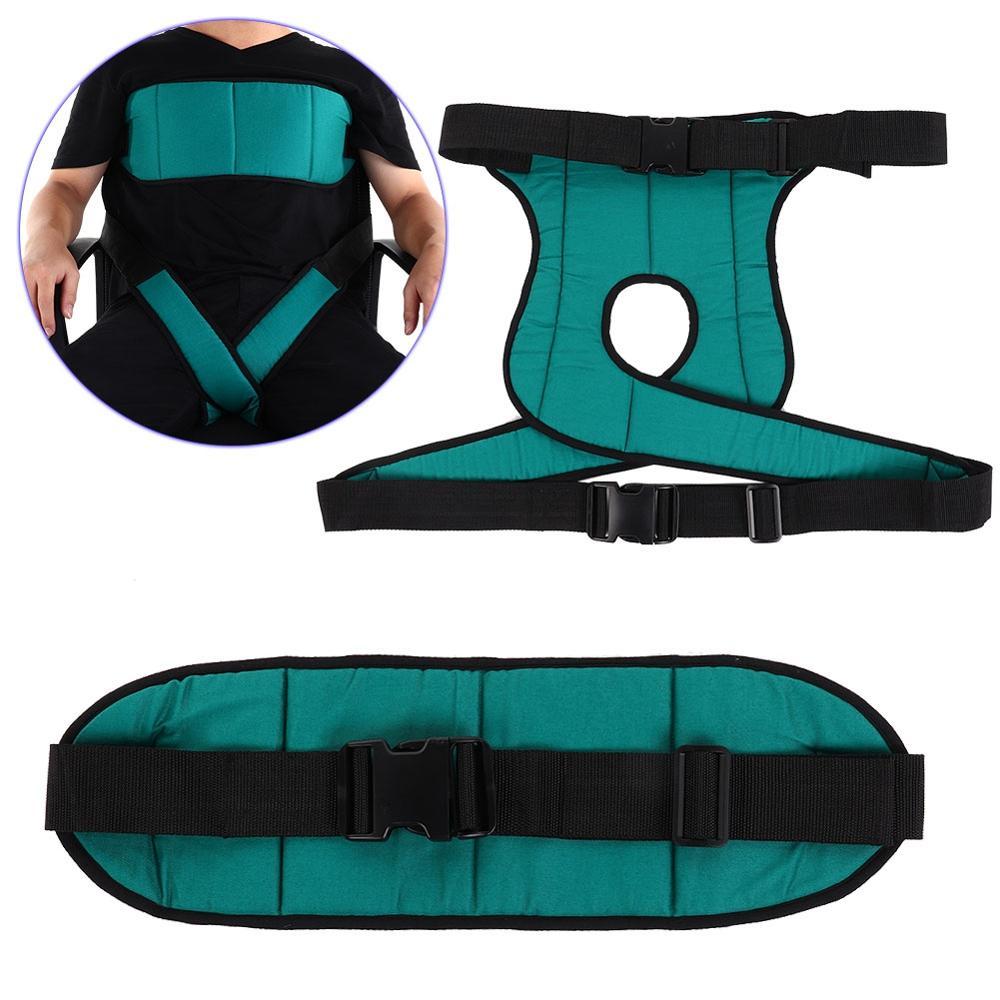 Soporte trasero ajustable silla de ruedas arnés de seguridad ancianos sillas de ruedas cinturón de seguridad pierna cinturón de fijación terapia